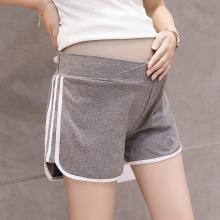摩登孕妈 孕妇装短裤女夏季新款修身弹力?#33073;?#33298;适阔腿孕妇托腹短裤