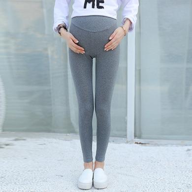 摩登孕媽 孕婦打底褲夏季新款修身托腹褲時尚休閑穿搭薄款九分褲子女