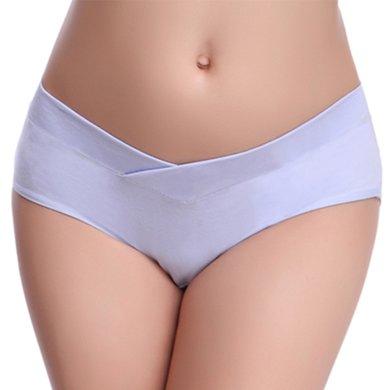 妃孕寶 孕婦內褲低腰托腹短褲產婦無痕大碼U型三角褲頭