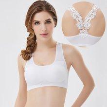 妃孕宝 新款美背裹胸带胸垫女士抹胸背心一片式无痕文胸蕾丝内衣