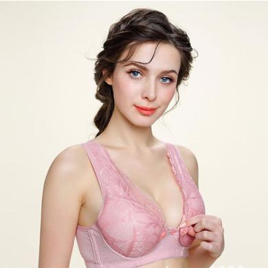 摩登孕妈 新款棉质孕妇内衣前开扣哺乳文胸防下垂防外扩副乳哺乳胸罩女