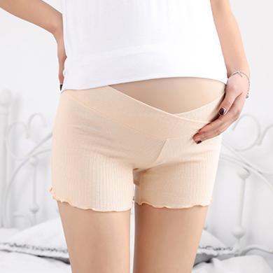 摩登?#26032;?新款孕妇防走光安全裤短裤时尚潮妈宽松外穿居家打底裤子女