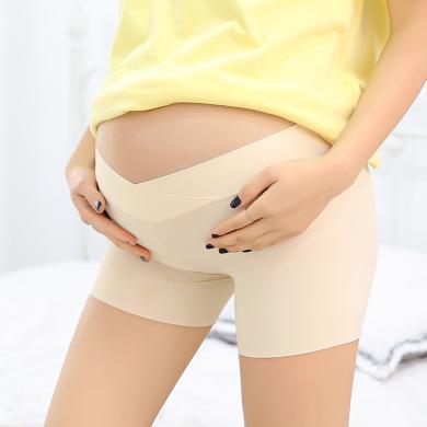 摩登?#26032;?孕妇托腹短裤夏季新款孕妇防走光安全裤不卷边无痕打底内裤女