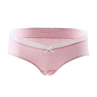 妃孕宝 三条装孕妇内裤新款条纹孕妇产前产后舒适透气孕妇U型低腰内裤女