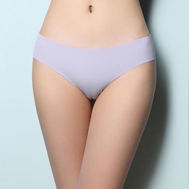摩登孕妈 三条装女士内裤新款冰丝无痕波浪贴身低腰性感舒适三角裤女