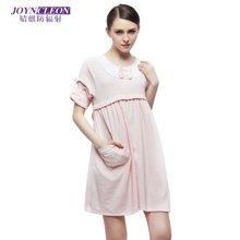 JOYNCLEON婧麒孕妇春夏纯棉月子服产后哺乳连衣裙   JS6201  包邮