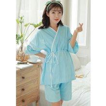 妃孕宝 夏季新款宽松孕妇睡衣哺乳衣产后月子服短袖薄款家居服