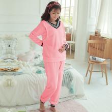 妃孕宝 哺乳套装秋冬装新款月子服套装法兰绒加厚家居服睡衣两件套女