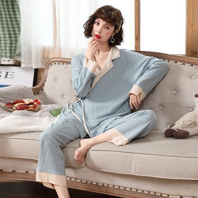 妃孕寶 孕婦睡衣兩件套春秋季新款哺乳月子服休閑寬松長袖家居服套裝女