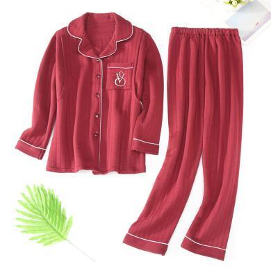 妃孕寶 孕婦睡衣產后月子服冬季新款女裝加絨加厚家居服套裝哺乳兩件套