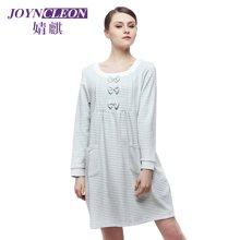 婧麒孕婦外出哺乳衣秋季顯瘦喂奶衣產后月子哺乳睡衣   JS6203