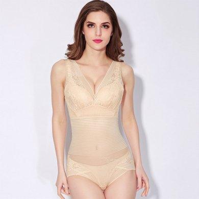 妃孕寶 新款收腹束腰瘦身衣薄塑形內衣后脫式產后連體塑身衣束身美體衣