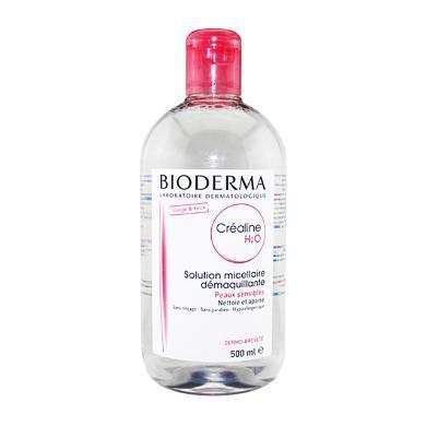 法国Bioderma贝?#20387;?舒妍温和保湿卸妆水500ml 粉瓶 保税区发货