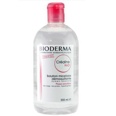 【支持购物卡】法国 Bioderma贝?#20387;?舒妍温和保湿卸妆水500ml 粉水