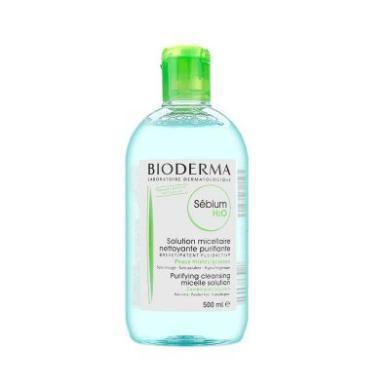 【支持购物卡】法国贝?#20387;?Bioderma 绿?#38752;?#27833;洁肤液 卸妆水500ml/瓶