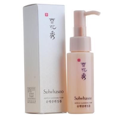【2瓶裝】韓國Sulwhasoo雪花秀 順行潔面 泡沫洗面奶 溫和 深層清潔 不緊繃 50ml/支