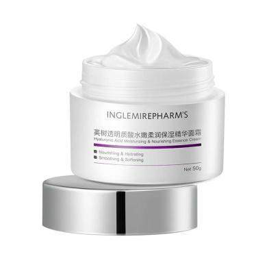 現貨!英樹新品透明質酸面霜 玻尿酸水嫩柔潤保濕補水精華面霜50g