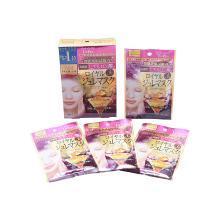 【2盒装】日本KOSE高丝蜂王浆高保湿玻尿酸美白亮肤黄金果冻面膜 4枚/盒