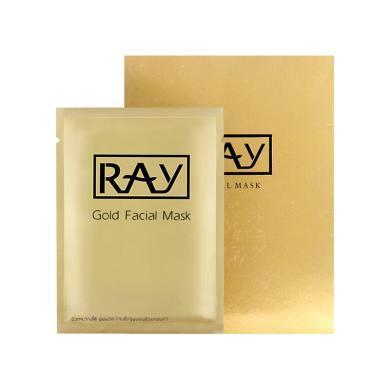 【支持購物卡】泰國RAY妝蕾 蠶絲面膜10片 金色