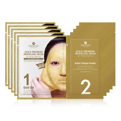 【支持購物卡】韓國SHANGPREE香蒲麗 黃金水光面膜5片