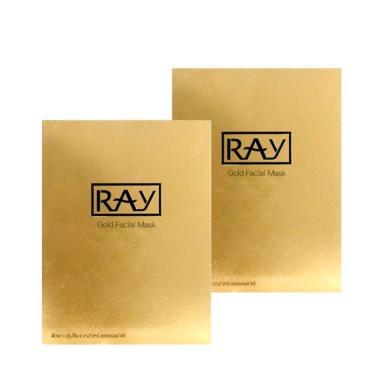 【支持購物卡】【2盒】泰國RAY妝蕾 蠶絲面膜10片/盒 金色