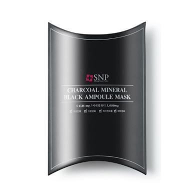 【支持購物卡】韓國SNP 黑炭凈化清潔精華面膜 10片