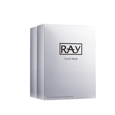 【支持购物卡】【2盒装】泰国RAY蚕丝超薄面膜贴 清洁补水 晒后修复 收缩毛孔(银色包装)10片/盒*2盒 妆蕾版