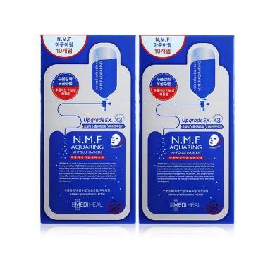 【2盒】韩国Mediheal美迪惠尔 可莱丝NMF针剂水库面膜 10片/盒