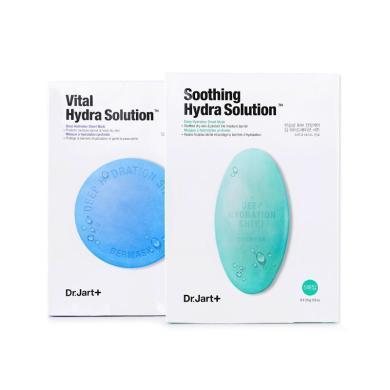 【支持購物卡】【2盒】韓國Dr.Jart蒂佳婷藍色+綠色膠囊藥丸面膜貼套裝 藍綠色組合裝(5片*2盒)