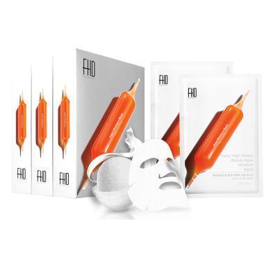韓國FHD血橙面膜滋養睡眠修護舒緩 超大容量面膜30片/盒