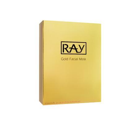 【支持購物卡】泰國RAY蠶絲超薄面膜貼 (金色包裝)妝蕾版10片/盒