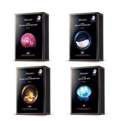 【支持购物卡】【4盒】韩国 新款JM面膜(水母+燕窝+鱼子酱+蜗牛)10片/盒 组合装