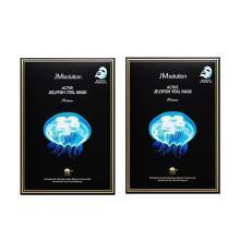 【支持购物卡】2盒*韩国JMsolution 新款水母弹润补水面膜10片/盒 香港直邮