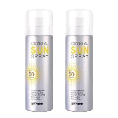 【支持购物卡】【2瓶】韩国RE:CIPE 水晶防晒喷雾 150ml