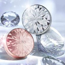 【支持购物卡】【2019年新款】韩国AGE20S爱敬钻石气垫套装BB霜带替换芯装(钻石白)