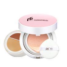PF79 絲薄瑩潤三合一氣墊BB霜 裸妝遮瑕 立體V臉 精致裸妝