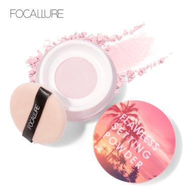 Focallure菲鹿兒絲感蜜粉散粉 持久遮瑕保濕控油定妝粉餅修容FA68