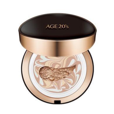 【支持購物卡】AGE20`s 愛紀二十之 愛敬 精華粉底 黑盒 氣墊BB霜 #多色可選 送替換裝