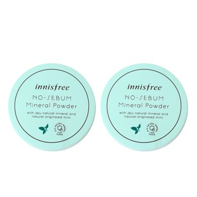 2盒*韓國悅詩風吟散粉控油innisfree礦物定妝散粉5g(綠色包裝)【香港直郵】