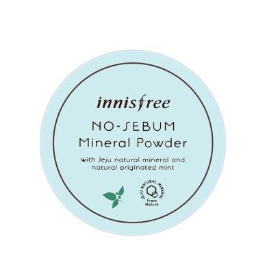 【支持購物卡】韓國innisfree悅詩風吟 綠茶散粉5g 薄荷散粉持久控油遮瑕定妝