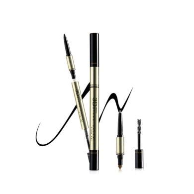 【支持購物卡】泰國Mistine 3D立體眉筆 防水防汗不暈染 #1深棕色