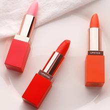 FOCALLURE彩妆萝莉诗红萝卜素健康唇膏温感变色口红不脱色烈焰红保湿滋润 R820