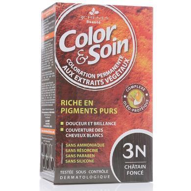 法國三橡樹染發劑3N-暗栗色 135ml單盒