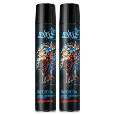 赫恩(H&E)男士發膠發蠟噴霧保濕蓬松定型干膠持久清香啫喱水420ML兩只裝