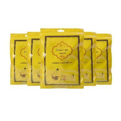 【支持購物卡】【5包】泰國LANNA蘭納 晚安舒適足貼10片/包