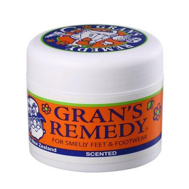 【支持购物卡】新西兰GRANS REMEDY老奶奶臭脚粉 花香味50g 橙