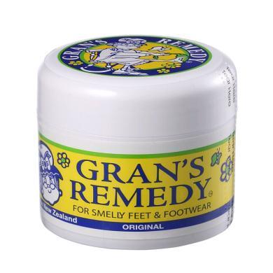 【支持购物卡】新西兰GRANS REMEDY老奶奶臭脚粉 原味50g 黄