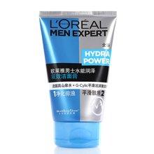 欧莱雅 水能润泽双效洁面膏 100ml 清洁 平滑肤质