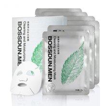 【买二赠一】波斯顿茶爽净化补水面膜去黑头痘印补水面膜6片/盒
