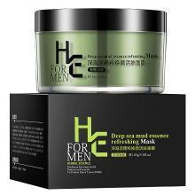 赫恩(H&E)男士深海泥清爽控油焕颜活肤面膜 145g(面膜泥 控油抗痘 清洁保湿)